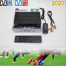 2020 DVB-T2 DVB-S2 Terrestrial Satellite Receiver COMBO Support AC3 Biss CCCAM IP TV 1080P Full HD DVB T2 S2 smart Receptor