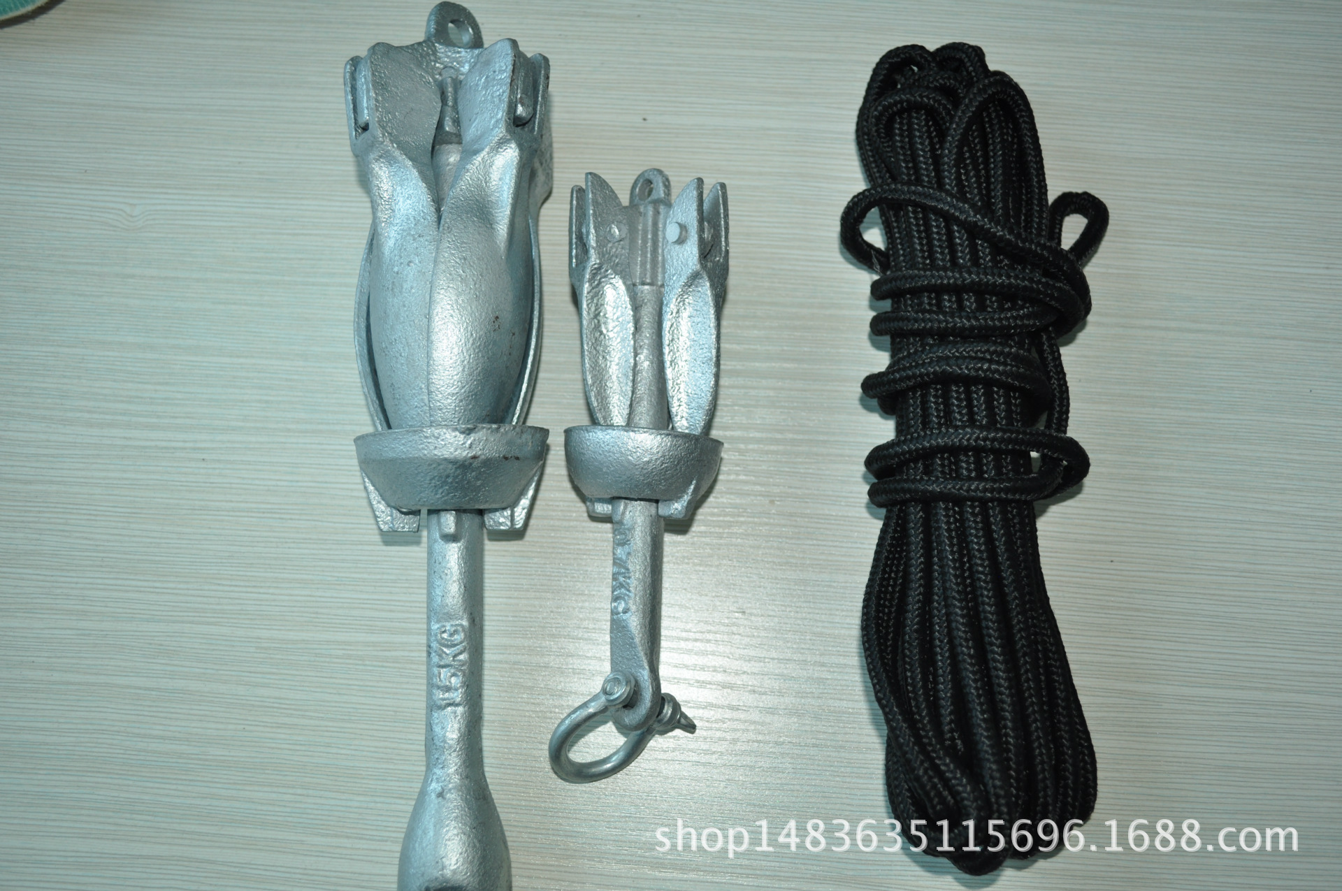 Manufacturers Wholesale Marine Zhe Die Mao Galvanized Anchor Rubber Boats Fishing Boat Inflatable Boat Only Anchor With Anchor R