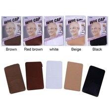 Кружева фронт парик шапки 10 шт. сетки для изготовления париков свободный размер 5 цветов ткачество кепка коричневого цвета хорошего качества оптом
