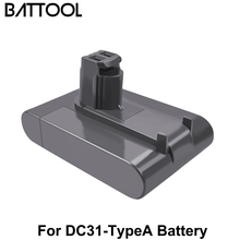 BATTOOL 22.2V 4000mAh For DC31A DC31 A DC31-typeA Battery For Dyson Replace DC31 DC31A DC35 DC44 DC45 Vacuum Cleaner Battery bonacell 22 2v 4000mah dc31 dc31a battery for dyson dc31 dc34 dc35 dc44 dc 45 animal handheld vacuum cleaner l70