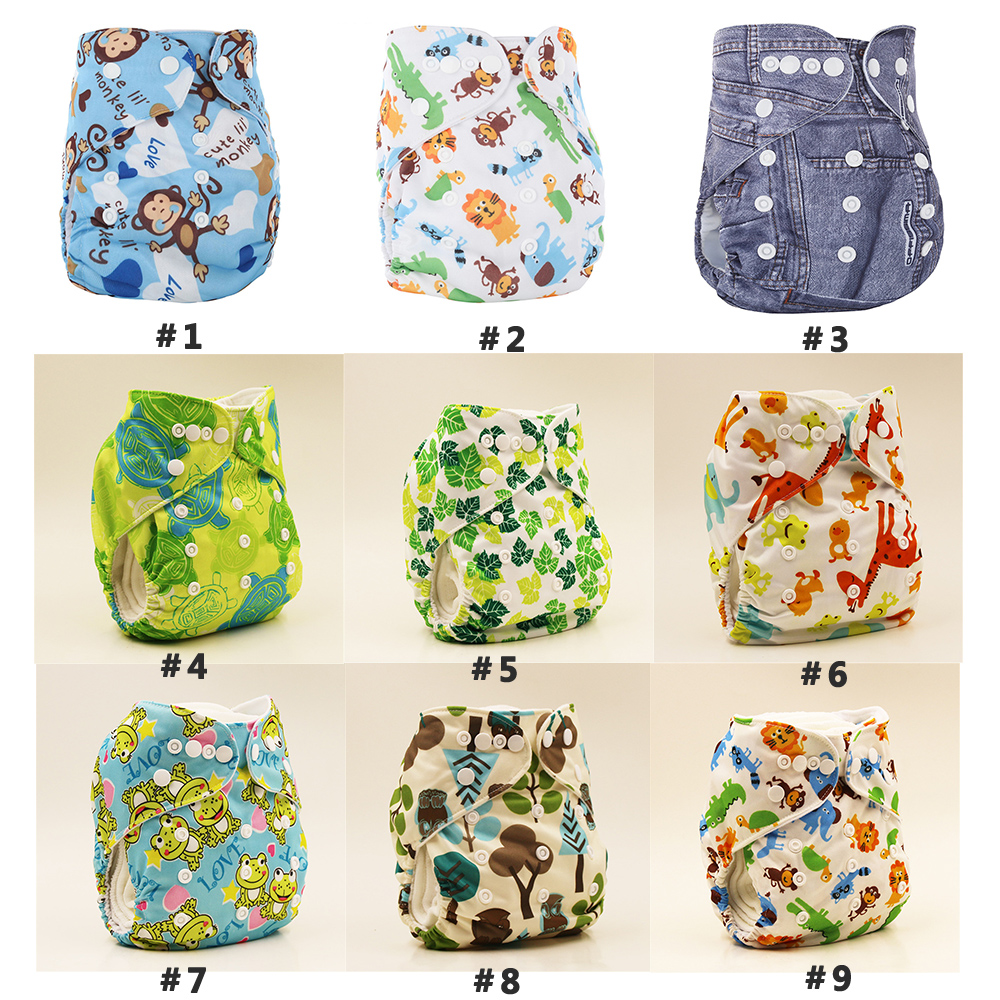 Cloth Diapers Diapering Baby Reusable Washable Diaper Nappies Waterproof Breathable Waist Adjustable Unisex Baby Pant Anti-leak