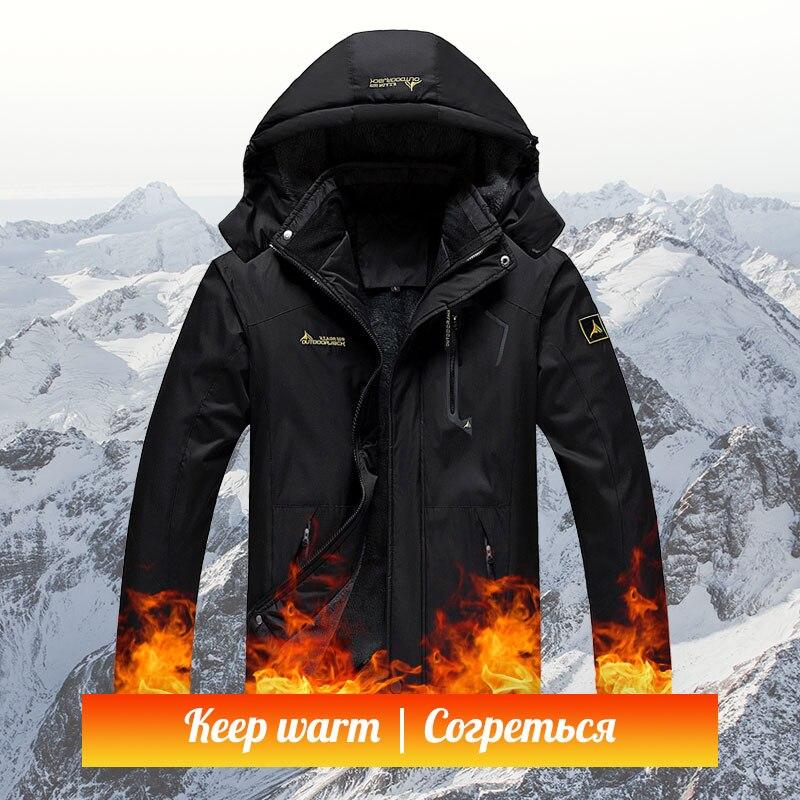 Waterproof Rain Men Winter Jacket Heated Softshell Sport Hiking Jacket Male Fleece Thick Outdoor Warm Fishing Coat Jackets L-5XL