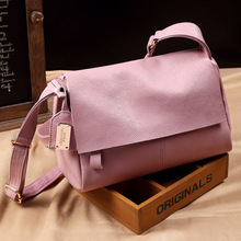 The New Simple ladies single shoulder messenger with leather handbags trend solid color messenger bag women fashion PU bag free shipping 2016 new women handbags simple fashion flap trend tassel woman messenger bag korean version shoulder bag