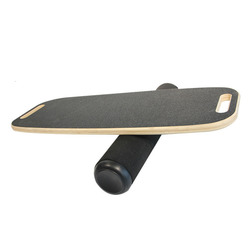Wooden Balance Board Yoga Twisting Fitness Balance Plate Core Workout For Abdominal Waist Legs Muscles Roller- Board Balancing
