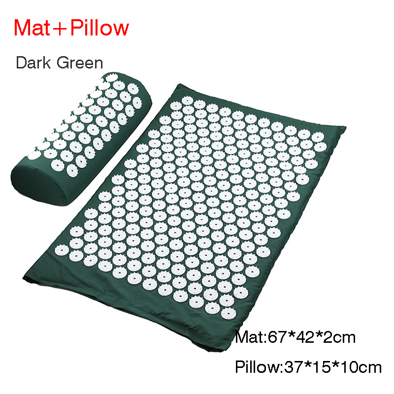 D green mat pillow