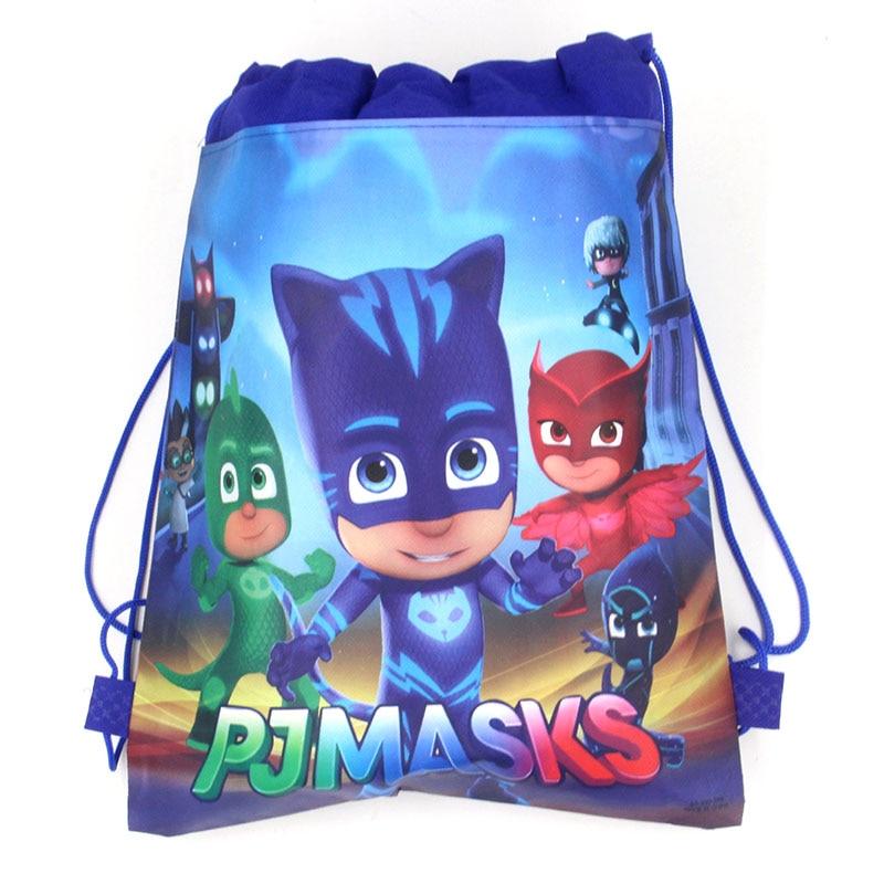 Original Bundle Pocket Storage Bag Non-woven Fabric Bags Catboy Owlette Gekko PJ Masks Anmie Action Figure Toys For Children