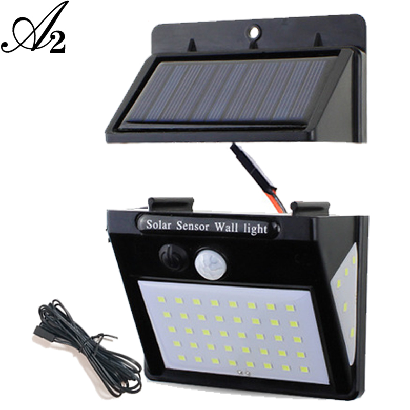 LED night lighting PIR Sensor solar power solar lamps lantern PIR Sensor outdoor indoor home waterproof Ip 65 garden Separated