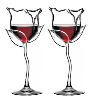 Fantazyjne czerwone kielich do wina wino kieliszki koktajlowe 100ml różany kształt kwiatu lampka do wina Party Barware Drinkware tanie i dobre opinie NoEnName_Null CN (pochodzenie) ROUND Ce ue Szkło Ekologiczne P0RD8YY101845
