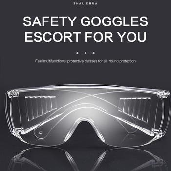 Gogle przeciwpyłowe i szokowe 2020 PC-okulary ochronne ochrona oczu 99 9 przeciwpyłowe przezroczyste okulary chemiczne Gafas Proteccion tanie i dobre opinie safe goggles