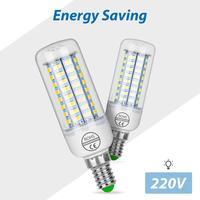 Lámpara LED E14 GU10 220V, Bombillas E27, 24 36 48 56 69 72LED, bombilla de mazorca B22, G9 luz de vela, iluminación de candelabro 5730 SMD