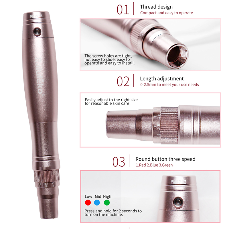 Top SaleMicroneedling-Pen Derma Therapy-System Wireless MTS Ultima Professional Nutrition PMS