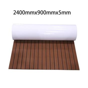 EVA Foam Boat Decking Sheet Yacht Marine Carpet Flooring Mat 240cmx90cm Non Skid Self Adhesive Teak Sheet Boat Accessories