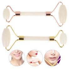 1pc Natürliche Jade Roller Gesichts Massager Echt Stein Gesicht Roller Guasha Massage Bord