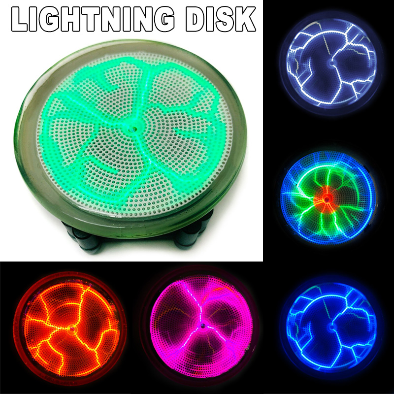 Plasmas Disk Sound Control LED Lighting Mini Plasma Disk Sensor Lighting Plate Party Home Decor  FAS6