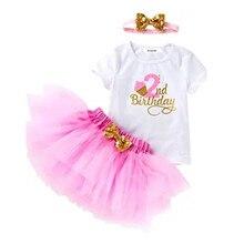 Платье на 2 года, день рождения, платье для маленьких девочек, детские кружевные вечерние свадебные платья с оборками, наряды на 2 дня рождени...