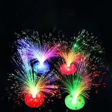 Цветной оптоволоконный светильник, меняющий цвет светодиодный Ночной светильник, оптоволоконный ночной Светильник для детей, игрушки для дома, украшения для рождественской вечеринки