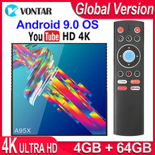 A95X R3 RK3318 الذكية صندوق التلفزيون أندرويد 9.0 4K مجموعة أفضل صندوق 4GB 64GB 32GB ثلاثية الأبعاد USB3.0 ثنائي واي فاي جوجل بلاي ستور يوتيوب 4K TVBOX