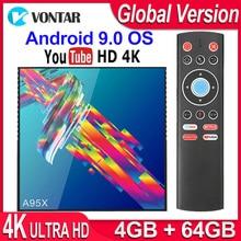 A95X R3 RK3318กล่องสมาร์ททีวีAndroid 9.0 4Kชุดกล่องด้านบน4GB 64GB 32GB 3D USB3.0 Dual Wifi Google PlayStore Youtube 4K TVBOX