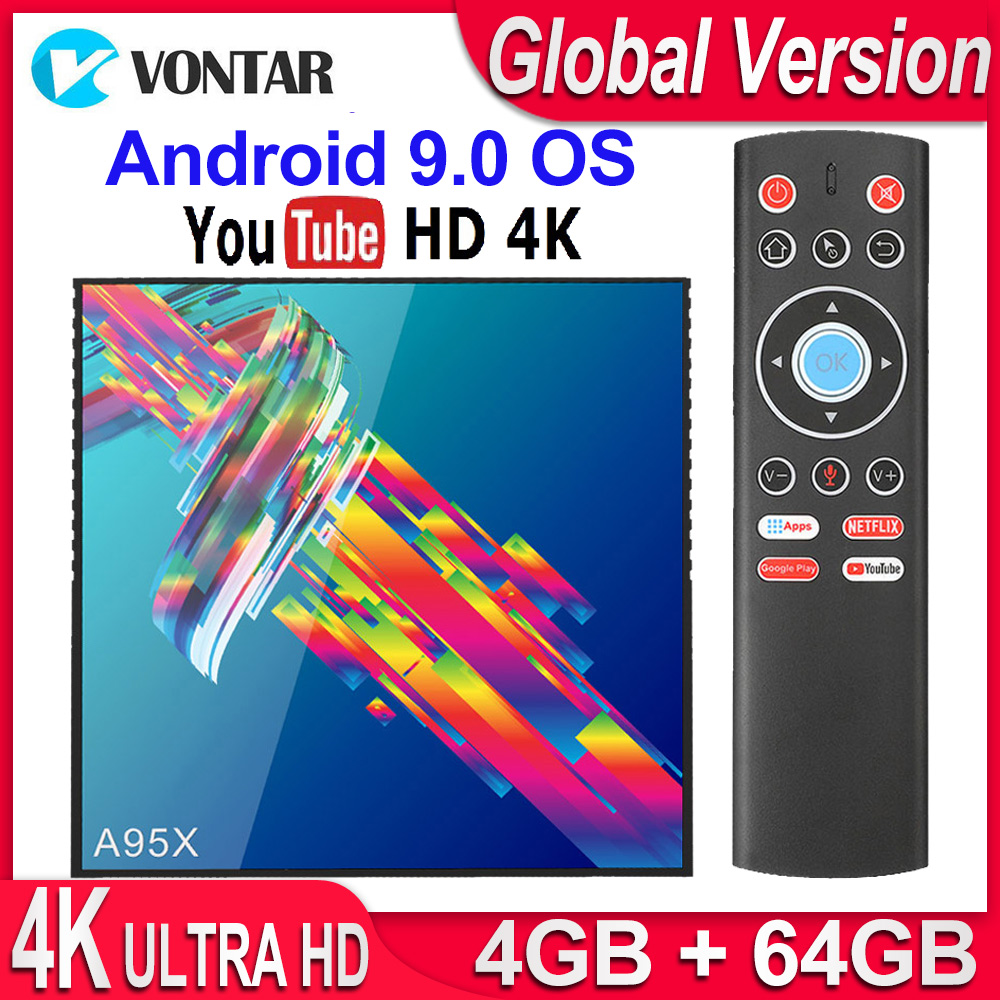 A95X R3 RK3318 Smart TV Box Android 9.0 4K Set Top Box 4GB 64GB 32GB 3D USB3.0 Dual Wifi Google Play Store Netflix Youtube IPTV