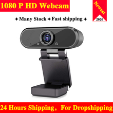 Webcam 1080P Cameras Microphone Camara Live-Broadcast Conference-Work Video-Calling Rotatable