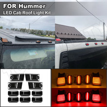 2003-2009 Hummer H2 SUT füme Lens LED taksi tavan ışığı lambaları kiti ön + arka OEM No 25809312,16531442, 15060525