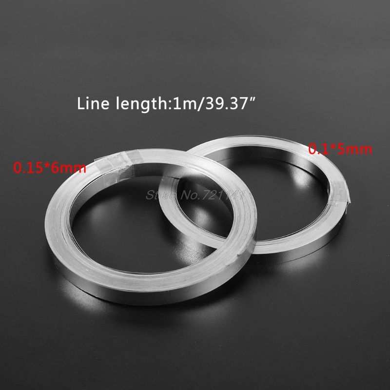 10m Nickel-plated Strip Tape For Li 18650 Battery Spot Welding 0.1x5mm/0.15x6mm Dropship