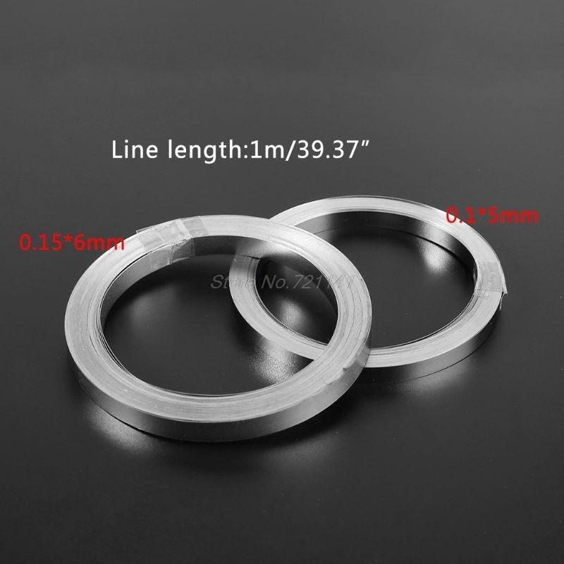 10m Nickel-plated Strip Tape For Li 18650 Battery Spot Welding 0.1x5mm/0.15x6mm Dropship