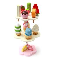 Baby Toys Simulation Magnetic Ice Cream Wooden Toys Set Pretend Play Kitchen Food Baby Infant Toys Food Birthday Christmas Gift