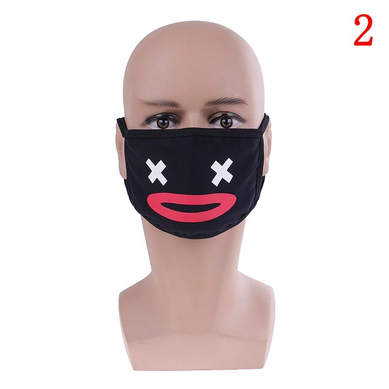 Маска для лица унисекс, хлопковая Пылезащитная маска для лица, маска для лица с рисунком медведя из аниме, женские и мужские Вечерние Маски для лица - Цвет: 2