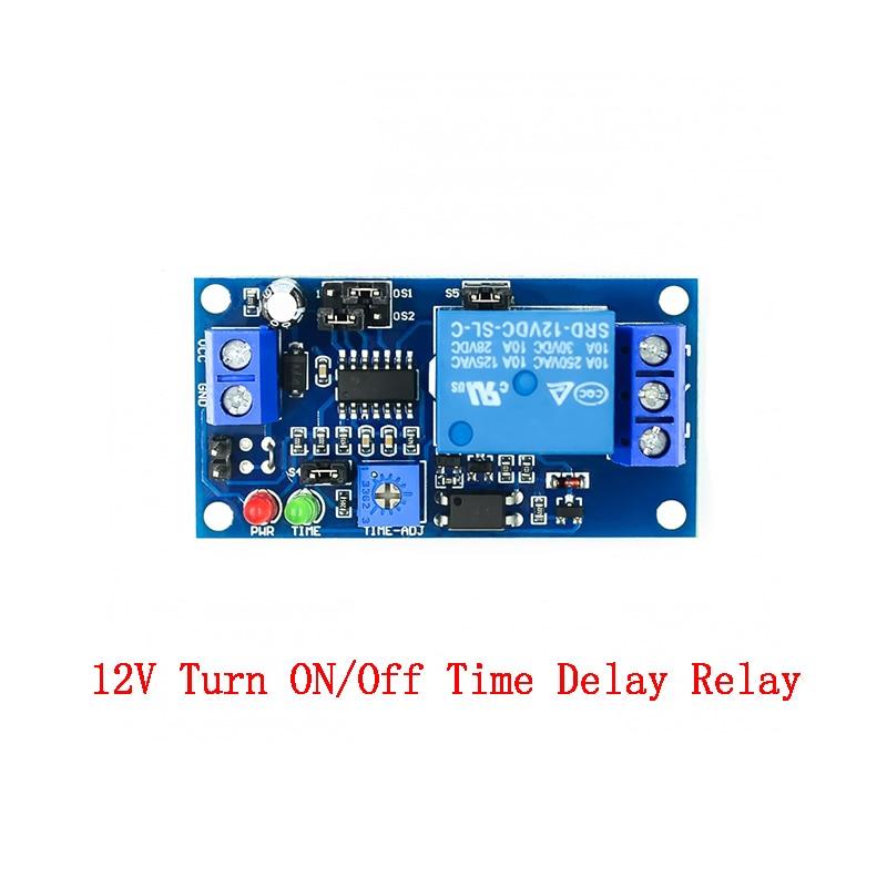 Geciktirme rölesi gecikmesi açma/gecikme kapalı anahtar modülü zamanlayıcı DC 12 V zaman geciktirme rölesi modülü 12 V Volt zaman röleleri kurulu