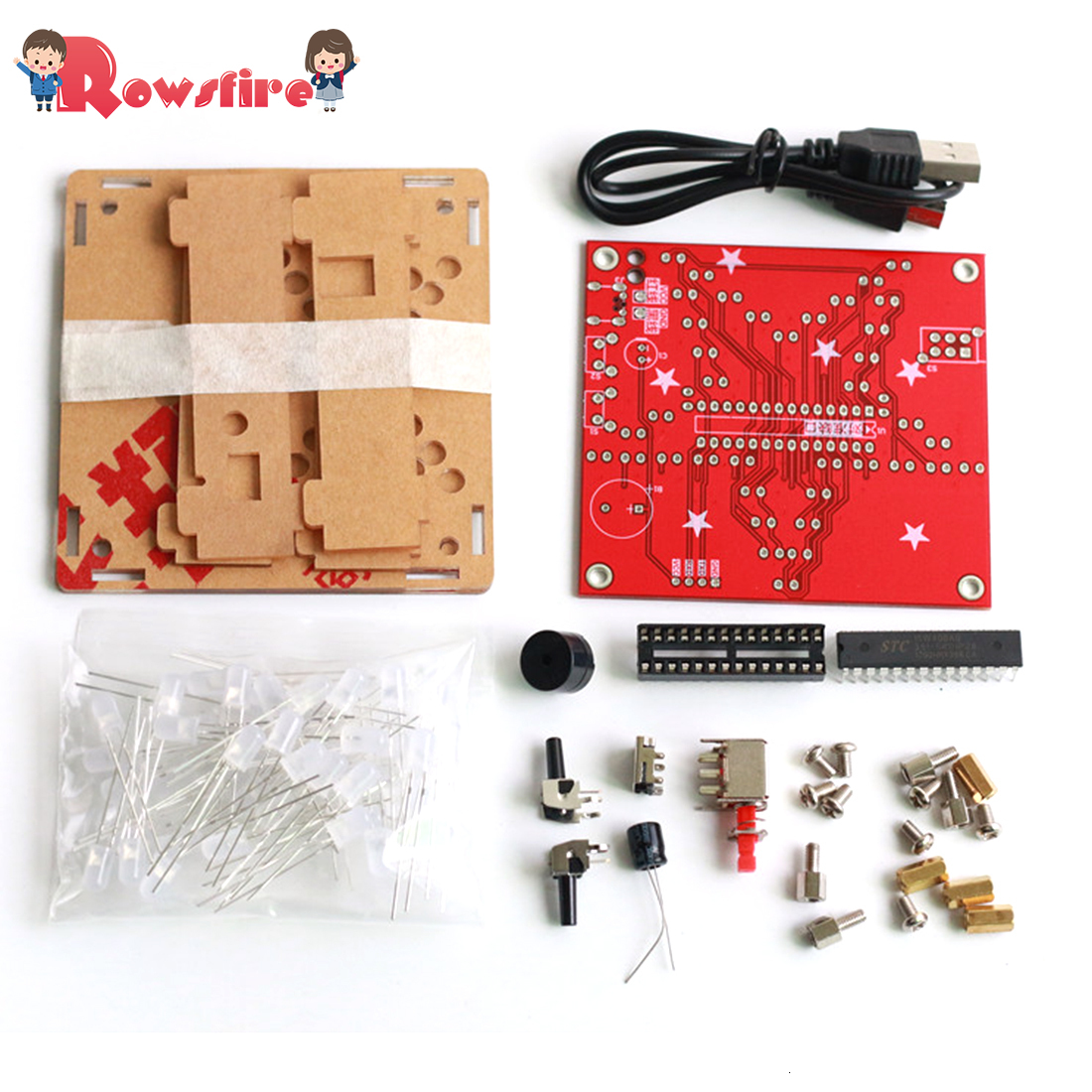 DIY Welding Electronic Bulk Parts Colorful Music Five-Pointed Star LED Light Kit With 5mm Frosted Lamp Beads And Shell