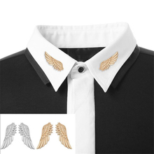 DoreenBeads 1.3x3.8cm Wing Shape Badge Punk Fashion Brooch Pin for Women Men Coat Suit Shirt Collar Ornaments Accessory 1 Pair