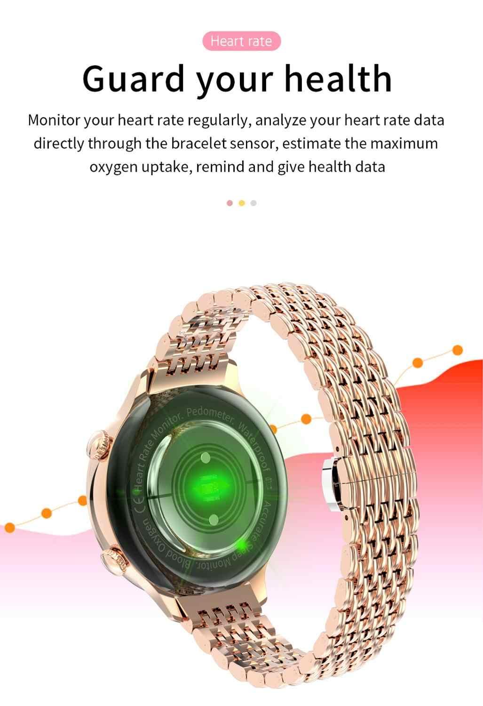 LEMDIOE LT06 montre intelligente femmes mode moderne GPS pour femme période physiologique rappeler étanche dames montre pour iOS Android