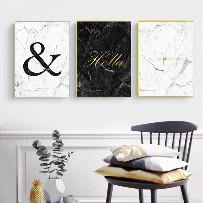 Marble Poster Abstract Wall Art Canvas Painting Minimalist Posters And Prints Quotes Wall Pictures For Living Room Unframed