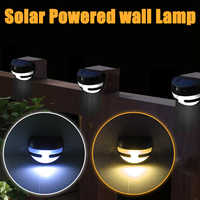 Outdoor Vintage Half-moon Shaped 2LED Solar Wall Lamp Garden IP65 Waterproof Solar Light Wall Solar Power Fence lamp For Garden