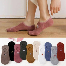 10 pieces = 5 Pairs/lot Invisible Cartoon Cotton Breathable Socks Women Summer Girls Casual Short Ankle Boat Low Cut Lady Sox