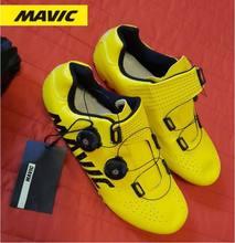 Novo mavic mtb ciclismo sapatos de ciclismo de estrada profissional mountain bike respirável bicicleta de corrida de auto-bloqueio sapatos