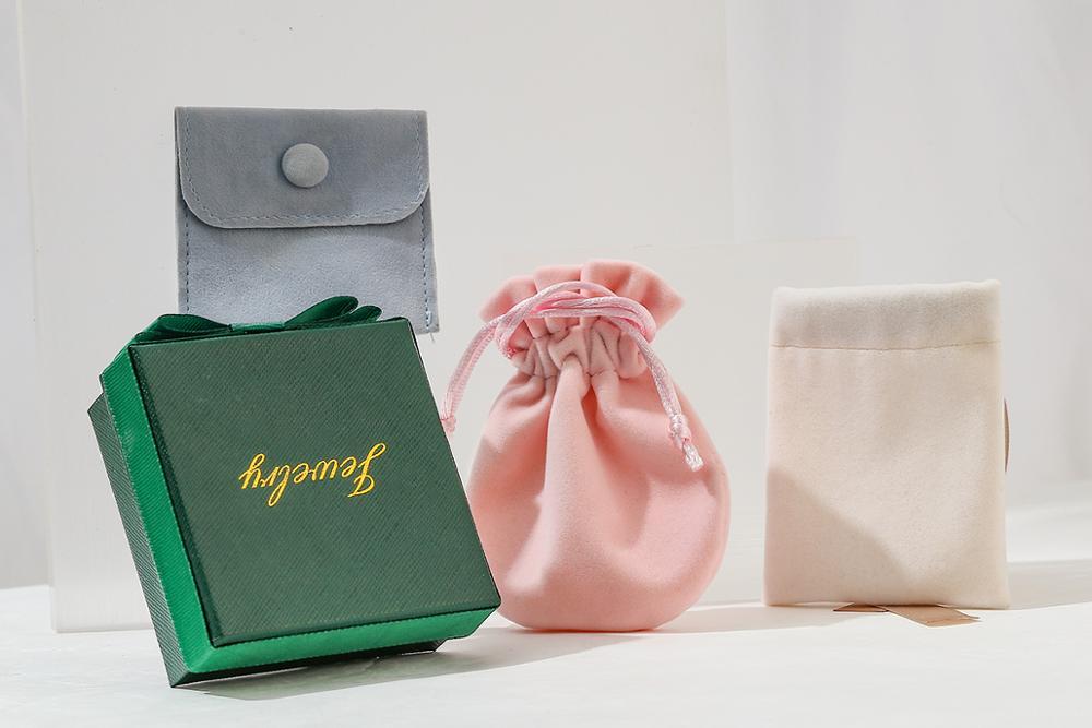Yhpup Earrings Ring Necklace Jewelry Gift Box Velvet Bag
