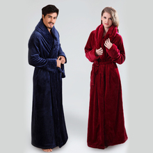 Robes Nightgown Long-Bathrobe Sleepwear Flannel Floor-Length Plus-Size Women's And Ultra
