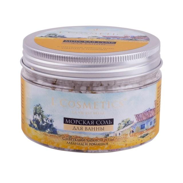 Sea bath salt with rose tea flowers, lavender and chamomile 250 ml Organic Bath Salt Ball Natural Bubble Bath Bombs BallAromatic Aromatherapy Natural Air Fresh Body
