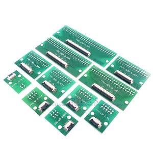 Image 5 - 20pcs FPC FFC Cavo 0.5 millimetri Passo 4 6 8 10 12 14 16 20 24 30 40 50 60 PIN Connettore SMT Adattatore per 2.54 millimetri fori passanti DIP PCB