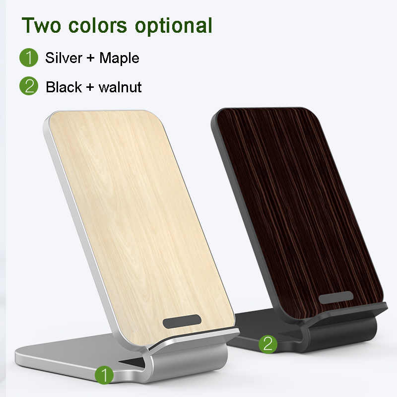Image 4 - Lantro JS Qi Wireless Charger Stand Wood Fast Charger for iPhone Xs Max and Smartphone with 1M Type C Cable without Adapter-in Mobile Phone Chargers from Cellphones & Telecommunications