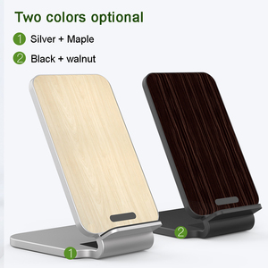 Image 4 - Lantro JS Qi Wireless Charger Stand Wood Fast Charger for iPhone Xs Max and Smartphone with 1M Type C Cable without Adapter
