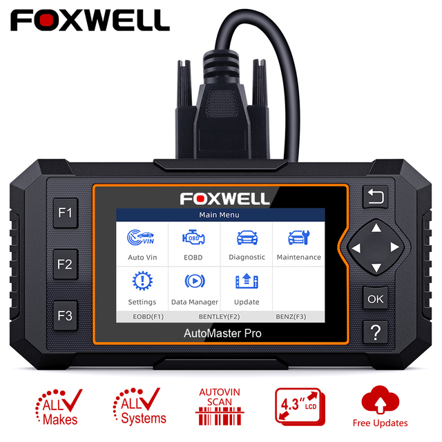 Foxwell NT624 Elite OBD2 Scanner Full System OBD2 Automotive Scanner EPB Oil Reset Diagnostic Tool Car Accessories Free Update