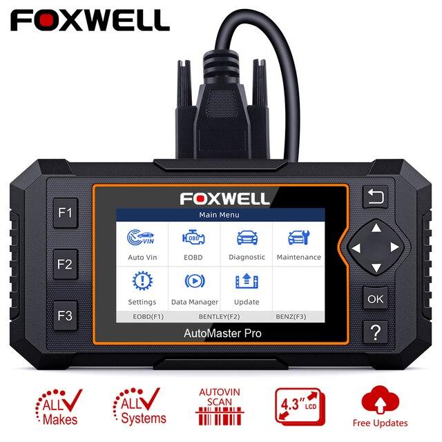 Foxwell NT624 Elite OBD2 Scanner Volledige System OBD2 Automotive Scanner Epb Olie Reset Diagnostic Tool Auto Accessoires Gratis Update