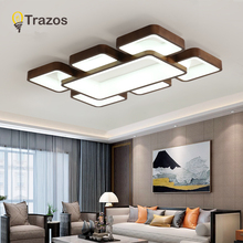 Black walnut Ceiling Lights 220v Modern Led Chandelier Ceiling Lamp Home Living room Bedroom Dining room White Light Fixtures acrylic thick modern white black led ceiling chandelier lights for living room bedroom dining room chandelier lamp fixtures