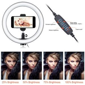 Image 5 - Светодиодный кольцевой светильник для селфи, 12 Вт, кольцевой светильник для фотостудии, для фотосъемки, со штативом, для Live видео, макияжа, Новинка