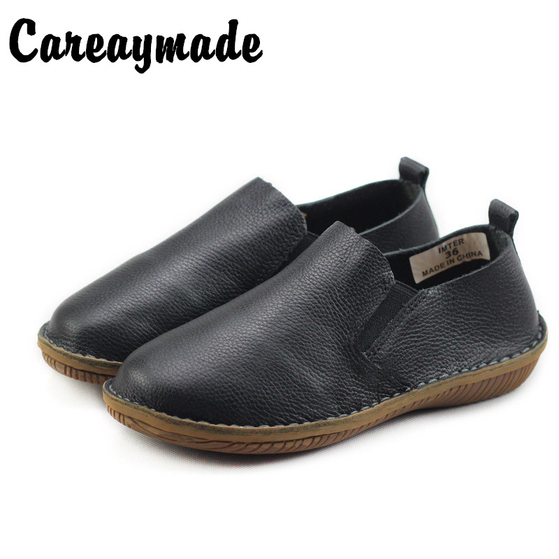 Careaymade-spring,Genuine leather shoes,pure handmade flat shoes,women the retro art mori girl shoes,Women fashion Casual shoes