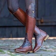 Sz loja equitação botas altas cavalo joelho cavaleiro sapatos de couro equestre longo bootcut cavaleiro eixo largo traje medieval para mulher
