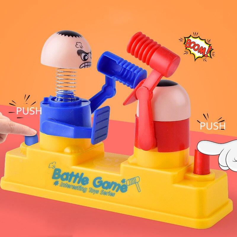 Balleenshiny mini brinquedos do bebê crianças boneca dupla batalha jogo pai-filho martelo interativo escondendo jogo do bebê brinquedo educação precoce